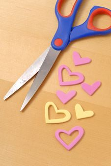 Free Cutting Out Hearts Stock Photo - 19143950