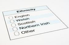 Free UK Ethnicity Form Royalty Free Stock Photos - 19144138