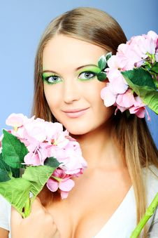 Free Green Make Up Royalty Free Stock Photography - 19145517
