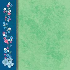 Abstract Grunge Background With Flowers Stock Photos