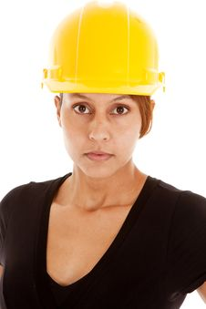 Free Close Up Face Hard Hat Royalty Free Stock Image - 19146176