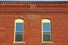 Free Facade & Two Windows Stock Images - 19146344
