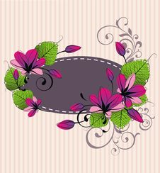 Free Frame With Fresh Flowers Stock Photos - 19146473