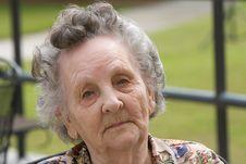 Free Portrait Elderly Woman Stock Photography - 19147232