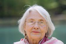Free Portrait Elderly Woman Stock Photo - 19147240