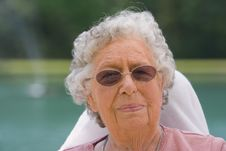 Free Portrait Elderly Woman Stock Photography - 19147242