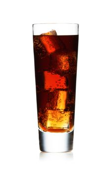 Free Glass With Cola Isolated On White Stock Photography - 19147252