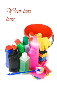 Assortment Of Means For Cleaning Stock Photo