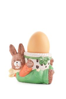 Egg Cup Easter Rabbit Royalty Free Stock Photo