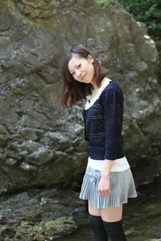 Young Japanese Woman Royalty Free Stock Photography