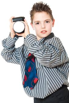 Free Boy And Camera Royalty Free Stock Images - 19148719