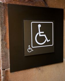 Wheelchair Or Handicapped Sign Stock Photo