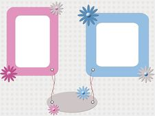 Free Color Babies Photo Frame Royalty Free Stock Images - 19149509