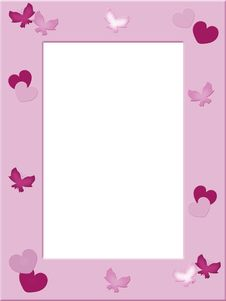 Free Pink Photo Frame Stock Photography - 19149522