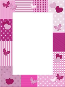 Free Pink Photo Frame Royalty Free Stock Photo - 19149525