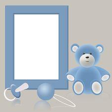 Free Blue Babies Photo Frame Royalty Free Stock Photo - 19149545