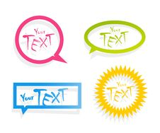 Free Set Of Colored Stickers. Royalty Free Stock Photos - 19149648