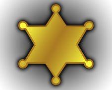 Sheriff Star Royalty Free Stock Photo