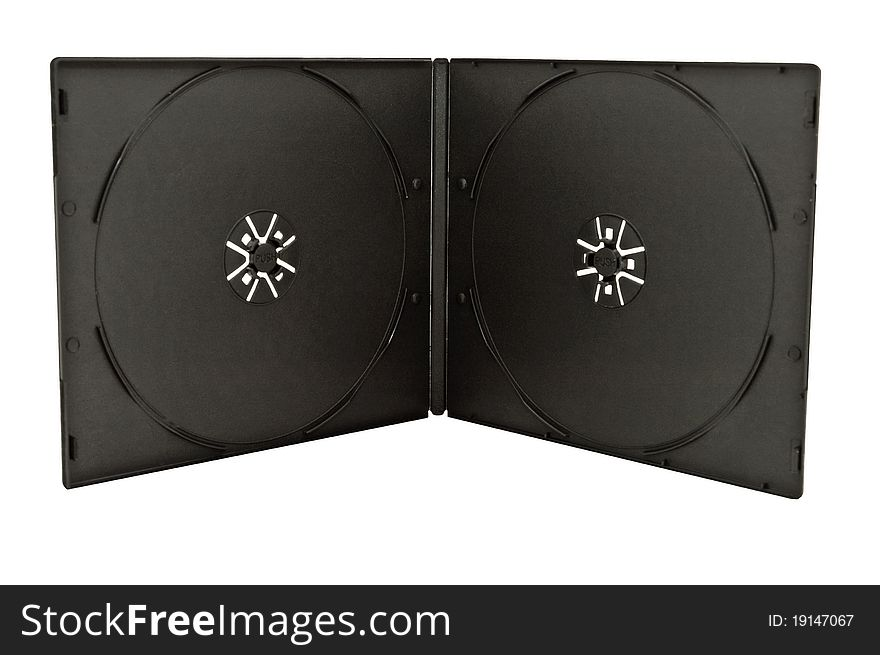 Case for CD. Isolated on white background
