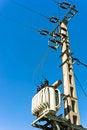 Free Power Line Against Blue Sky Stock Photos - 19150043