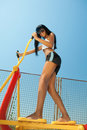 Free Woman At On Fitness Playground Royalty Free Stock Photos - 19150438