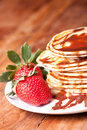 Free Pancakes With Chocolate  Souce Royalty Free Stock Image - 19156946