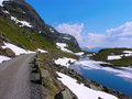 Free Roads In The Norwegian Mountains Stock Image - 19157071