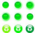 Free Eco Icon Set Green Royalty Free Stock Photography - 19157627