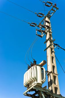 Free Power Line Against Blue Sky Stock Photos - 19150043