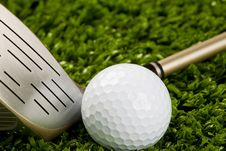 Golf Club New With Ball 1 Stock Image