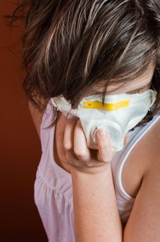 Free Girl Wearing Protective Mask Stock Photo - 19150340