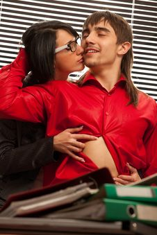 Free Passionate Embraces Of Colleague Stock Photography - 19150412