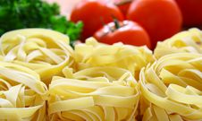 Pasta And Fresh Vegetables Stock Image