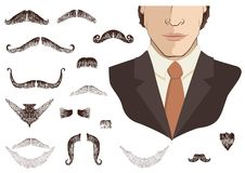 Free Mustaches For Man. Royalty Free Stock Images - 19156879