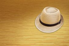 Free Hat On The Wood Stock Images - 19156934