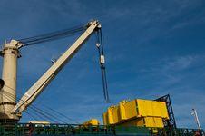 Crane On Ship Stock Photos