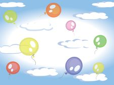 Free Balloons In The Sky Stock Photos - 19157323