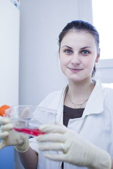 Free Female Researcher  In A Lab Stock Image - 19157361