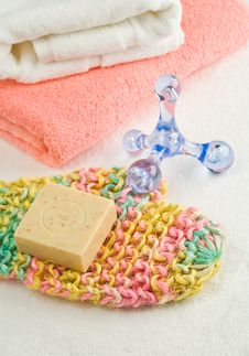 Bath Accesories Royalty Free Stock Photography