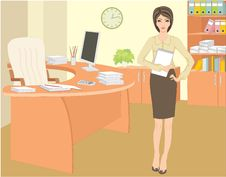Free Businesswoman In Office Royalty Free Stock Photos - 19158088