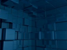 Free Mid Shot 3D Cube World Background Stock Photography - 19159042