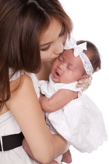 Free Kissing Her Baby Royalty Free Stock Photography - 19159337