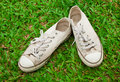 Free Old Canvas Shoe Stock Photography - 19160932