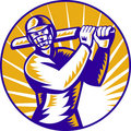 Free Cricket Batsman Batting Front View Royalty Free Stock Photos - 19163098