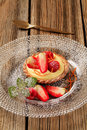 Free Fruit Tart With Pudding Stock Images - 19167814