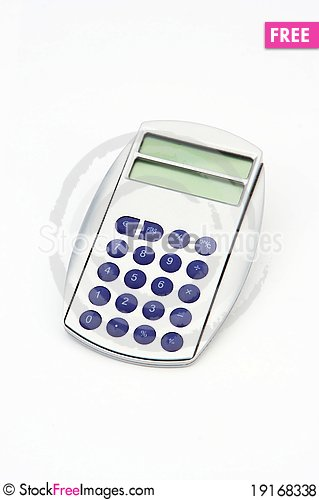Free A Calculator Isolated Royalty Free Stock Photos - 19168338