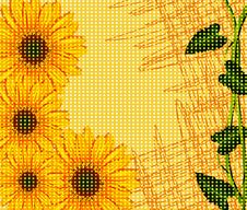 Free Vector Abstract Background With Sunflowers Stock Image - 19160261