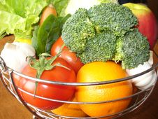 Free Fresh Vegetables And Fruit Royalty Free Stock Photo - 19160455