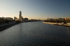 Free View On Moscow River At Sunset Royalty Free Stock Photo - 19160485