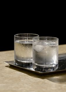 Two Glasses Of Icy Water Royalty Free Stock Image